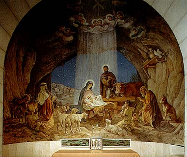 images of jesus birth pictures. The birth of Jesus (pbuh) Fresco. Up to 1972, only the underground church