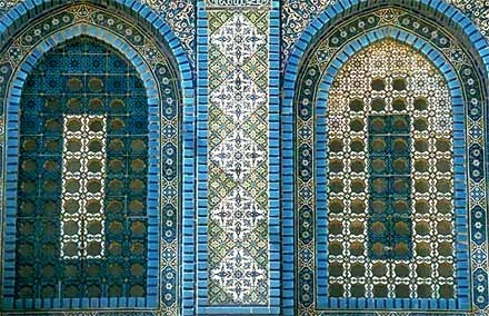 Windows of Dome of the Rock