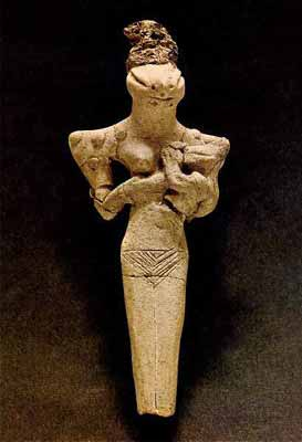 Terracotta Figurine Representing the Mother-Goddess (Ubaid-Period, early 4th millennium BC)