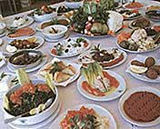 The famous Lebanese Mezze